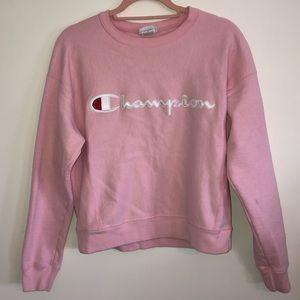 CHAMPION Reverse Weave Crewneck Sweatshirt Pink